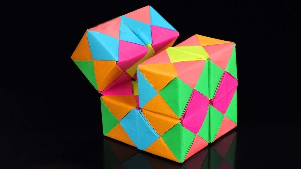 How To Make A Paper INFINITY CUBE!, origami infinity cube