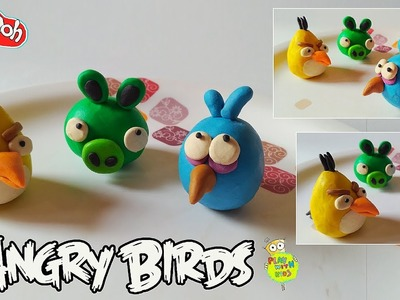 How to make a play doh angry birds toys, the blues, chuck, bomb
