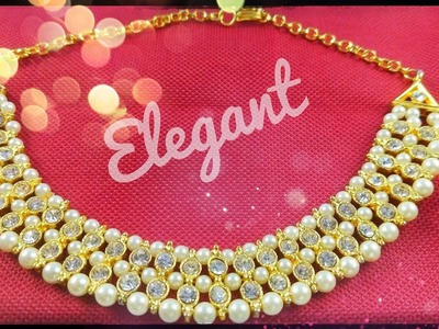 #jewellerybox How to Make Diamond Necklace. Kundan Necklace and Earring Making.Partywear Jewellery