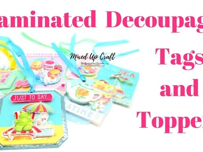 Laminated Decoupage | Gift Tags & Toppers | Craft Fair Ideas