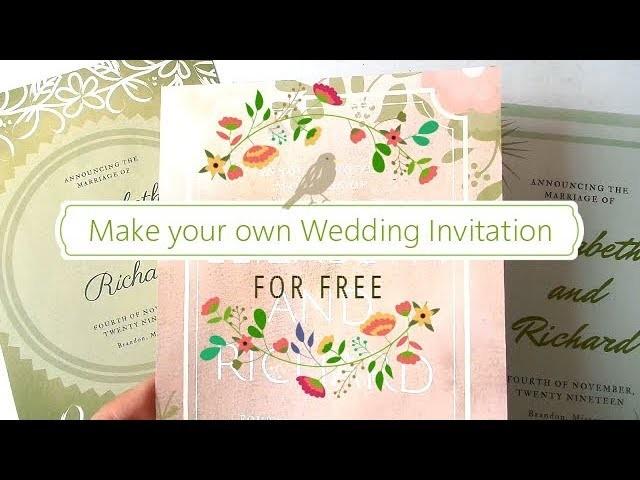 make your own wedding invitation for free 3 design ideas diy