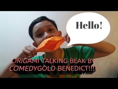 ORIGAMI DUCK BEAK ORIGINALLY BY COMEDYGOLD BENEDICT!