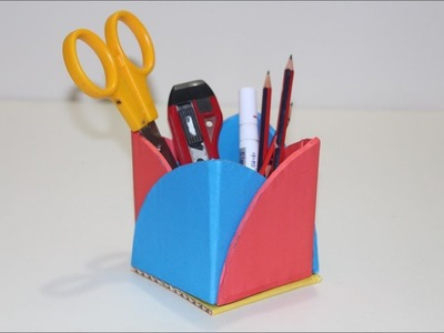 Useful Cardbaord Craft idea | How to make pen stand