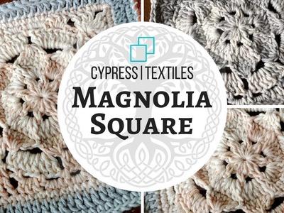 VVCAL 2018 Week 4 Crochet Motif: Magnolia Square