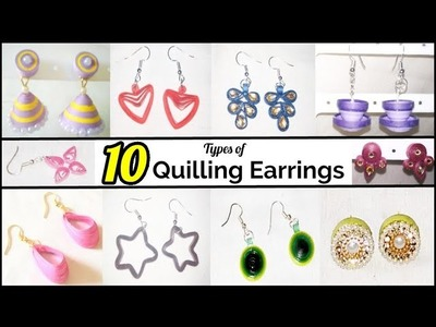 10 Types of Quilling Earrings | Hand craft jewelry factory