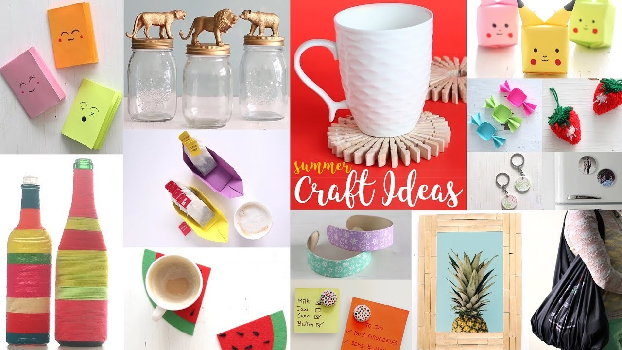 22 Cool Summer Craft Ideas | DIY Projects For Summer | Handcraft