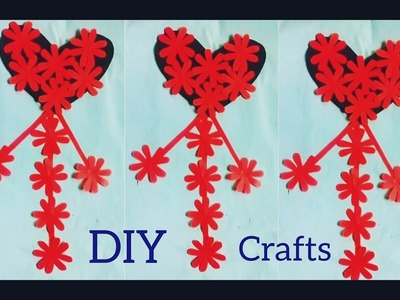 Beautiful Wall Hanging Idea At HOME→DIY Paper Heart Wall Hanging→DIY Crafts For Room Decor→Design→3
