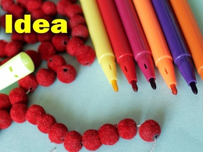 Best Craft Idea Out of Sketch Pen Color || How to Make Wall Hanging at Home || DIY Room Decor 2018