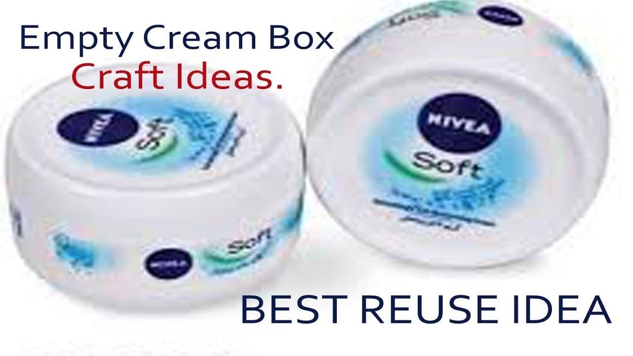 Best Out Of Waste Empty Cream Box Craft Idea Reuse Idea