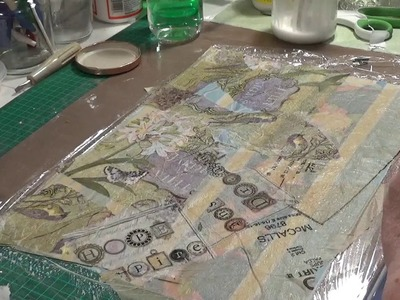 Craft with me making fabric paper