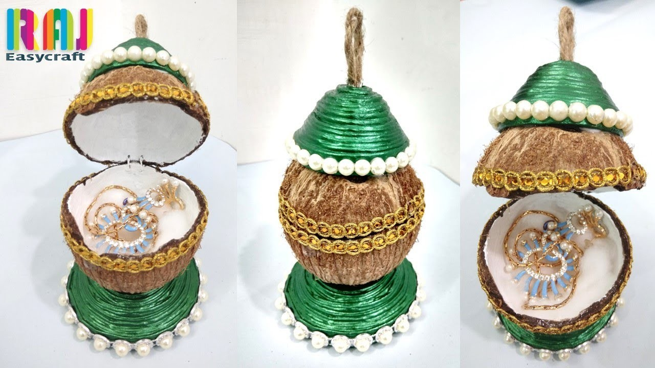 Diy art and craft best out of waste coconut chell for Art craft ideas best out of waste