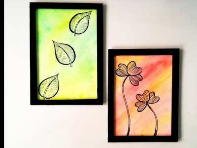 DIY : Classy ROOM DECOR. Kid's SUMMER PROJECT Ideas | Wall Decor \ Water Color Backgrounds