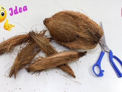 DIY Coconut Fiber Craft Idea | Best out of Waste Coconut Fibers | Reuse waste material craft