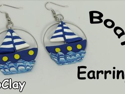 DIY easy sailboat earrings - Polymer clay tutorial
