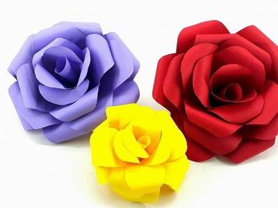 DIY - How to make paper Rose Flower (very easy) - Valentines Day