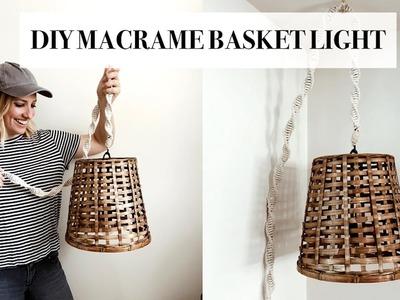 DIY Macrame Hanging Basket Light