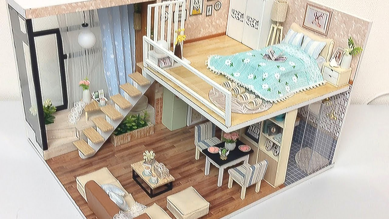 DIY Miniature Dollhouse Kit WAITING FOR THE  TIME