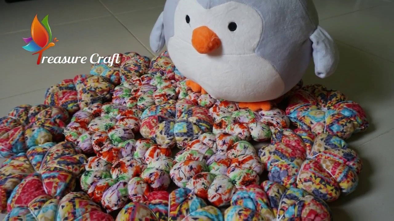 Diy Old Clothes Reuse Old Clothes Puffy Doormat Learn