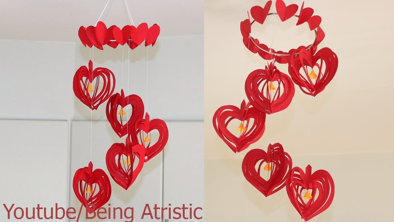 DIY - Simple Home Decor - Hanging Flowers - Paper Craft - Handcraft