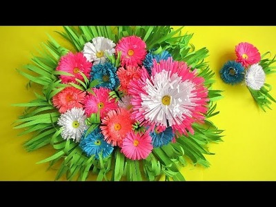 DIY. Simple Home Decor. Wall Decoration Door. Hanging Flower. Paper Craft Ideas #2
