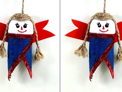DOLL Wall SHOWPIECE from JUTE | Wall Decoration | Jute Craft - DIY doll from waste for room deccor