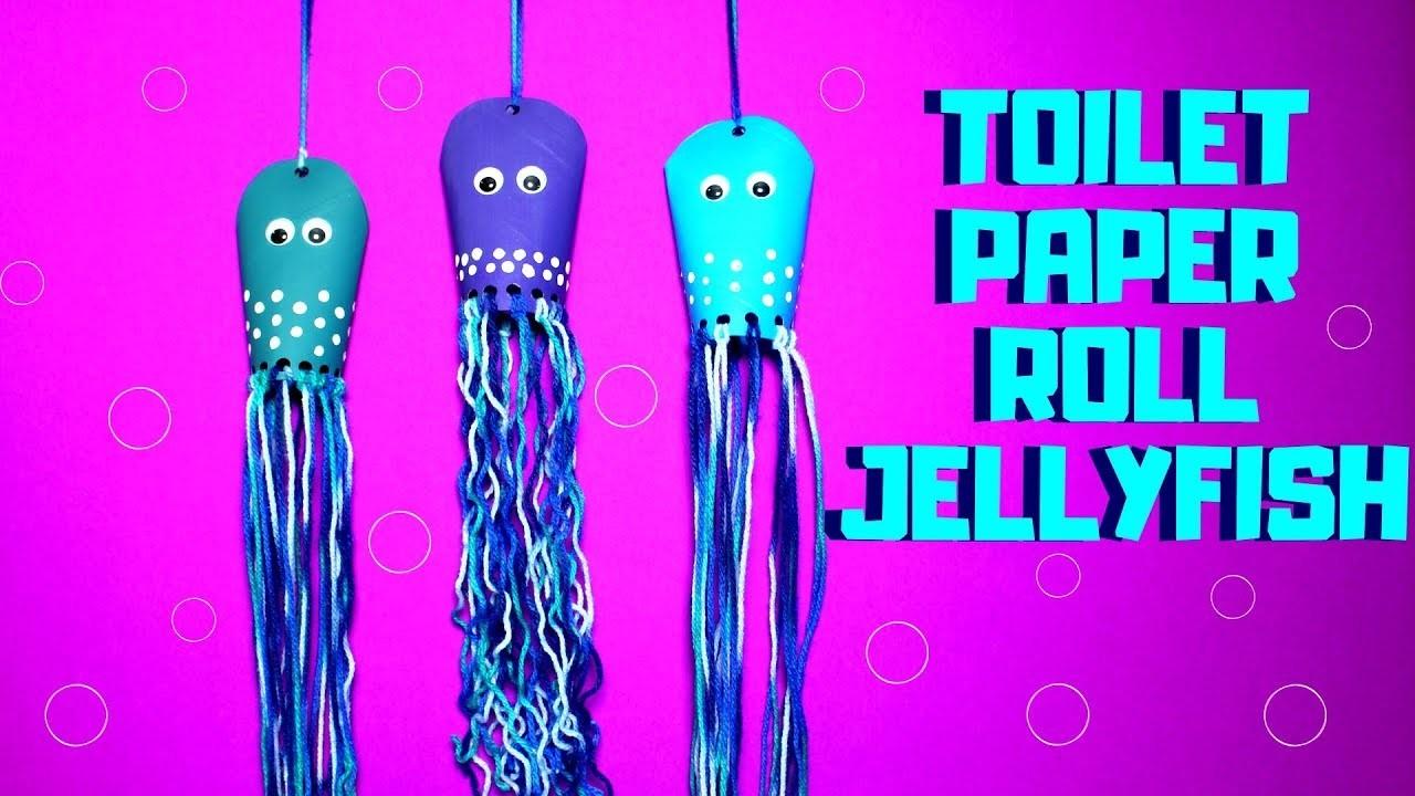 Easy Paper Roll Jellyfish Pre School Craft Ideas