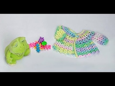 """HOW TO CROCHET A BABY """"POLET"""" JACKET - EASY AND FAST - BY LAURA CEPEDA"""