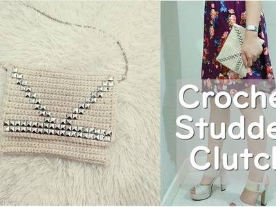 How to Crochet Studded Clutch Bag