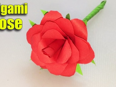 Origami money heart out of euro bill origami tutorial diy folding how to make an origami rose flower tutorial diy at home mightylinksfo