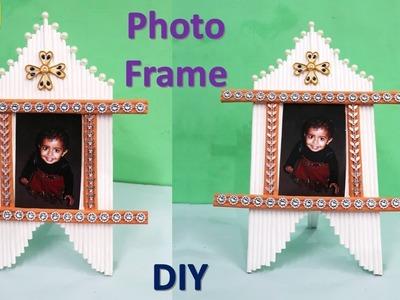 How to make Photo Frame || Newspaper craft and art  || raj easy craft