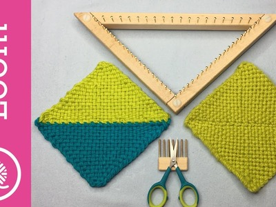 How to Weave and Join Triangles on a Loom (Right Handed)
