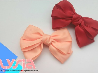 Laço Borboleta Basic ???? #Ribbon Bow ???? DIY by Elysia Handmade