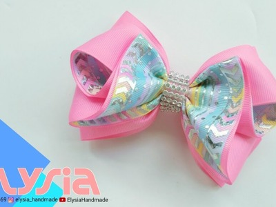 Laço Marsha 2 Tone ???? #Ribbon Bow ???? DIY by Elysia Handmade