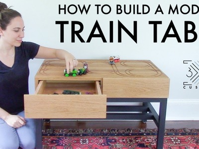 Modern Toy Train Table. DIY Furniture for Kids. Router. CNC
