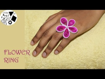 Paper Flower Ring - Easy Paper Crafts- Paper Flower Tutorial- DIY easy