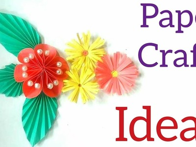 Paper Flower Wall Decoration Tutorial→Crafts Paper DIY and Heart Ideas At Home→Make Your Room Decor