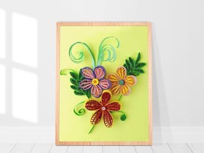 Paper Quilling Flower - DIY Quilling Art