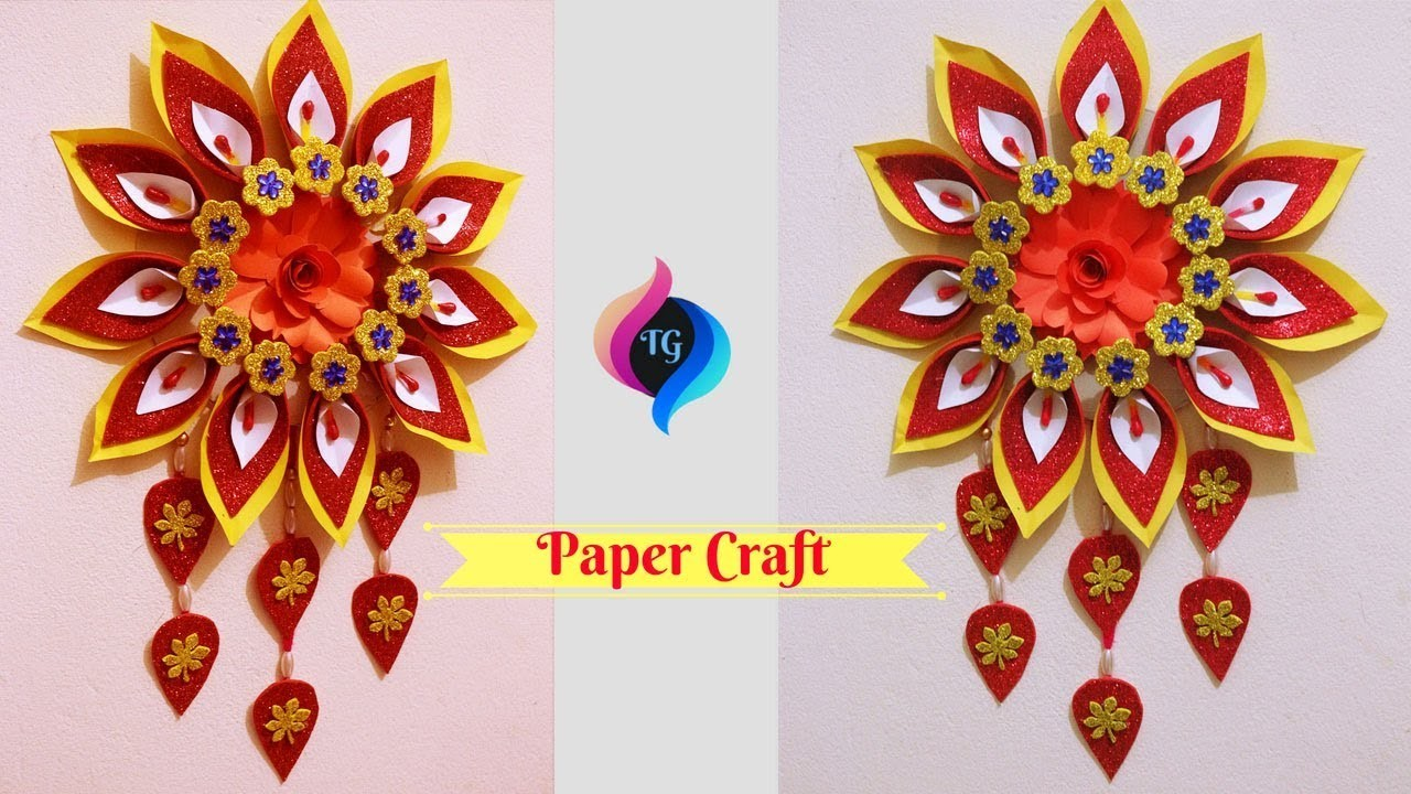 Paper Wall Hanging Crafts For Decorations Wall Decoration With