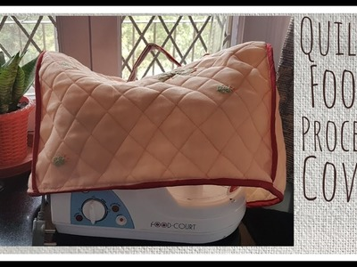 Sew your own super easy DIY Quilted Food Processor Cover