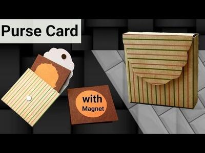 Tutorial : DIY Purse Card | DIY Envelope Card | Mini Cards Inside it |