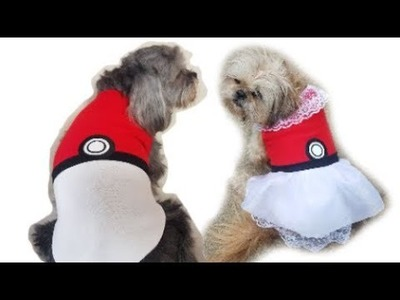 2 Dog Pokemon Pokeball Costumes: DIY Outfit & Shirt