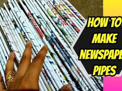 Basic Newspaper Craft Tutorial || DIY Newspaper pipes