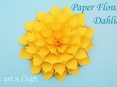Flower how to make a 1 minute easy origami flowerdiy flower how best easy diy dahlia paper flower making tutorial best mightylinksfo