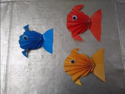 Colourful fish.Easy kids craft