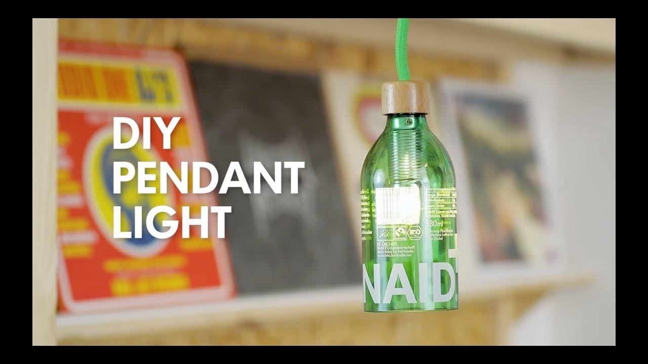 DIY Bottle Pendant Light - Lemonaid Upcycling Tutorial Hack
