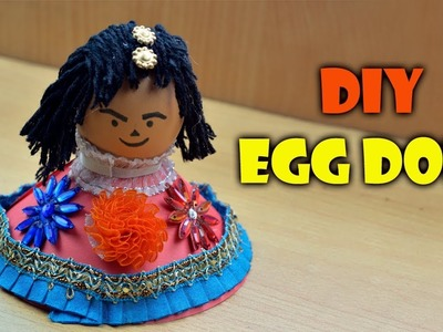 DIY | Eggshell Craft | How To Make A Doll Cartoon With Egg. Eggshell | Showpiece Idea