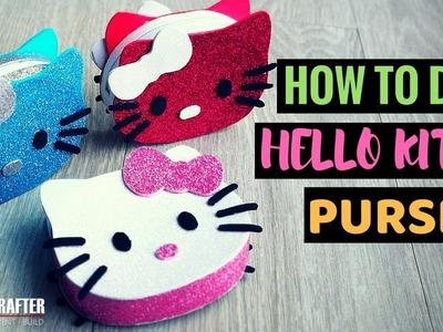 DIY Hello Kitty Purse – Three Colour Scheme Designs, Craft Glitter Foam, Hot Glue [How to DIY]