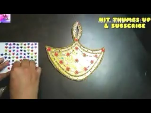 Diy:how to make handmade Diya,decorate beautiful Diya for school project,tutorial by The Arts Center