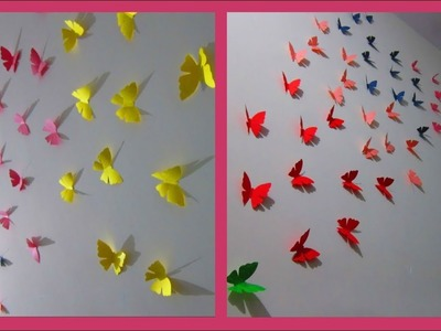 DIY||Make 3D Papermade Butterfly Easily at Home in 5 mins [Reuploaded]||WallDecor||World of Artifact