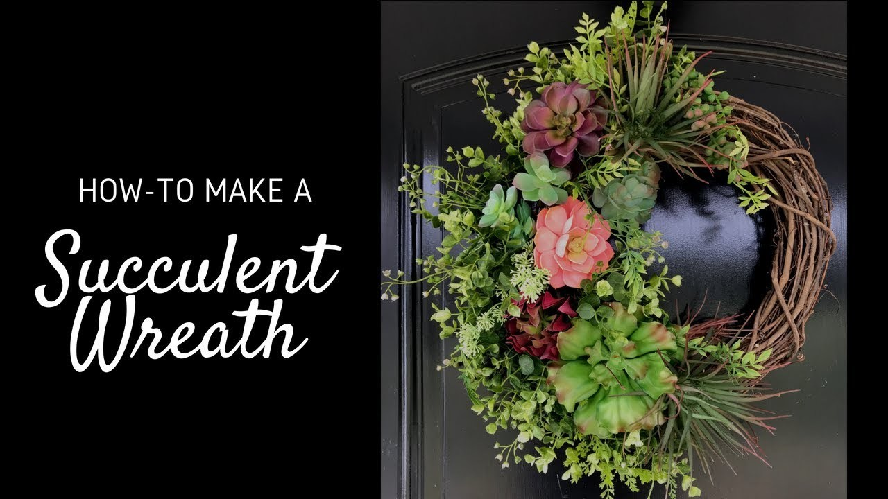 DIY Succulent Wreath - How to Make a Wreath With Succulents